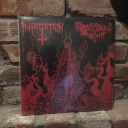 Imprecation / Black Blood Invocation - Diabolical Flames of the Ascended Plague LP
